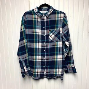 Old Navy Long Sleeve Plaid Button Down